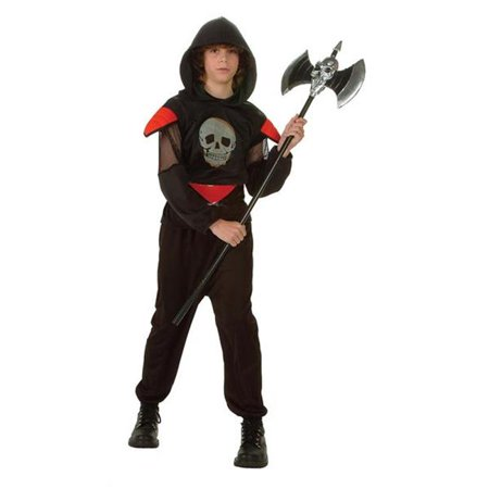 RG Costumes 90144-S Fatal Warrior Glow Skull Costume - Size Child-Small