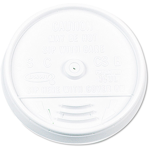Dart Plastic Slip-Thru Lids, 1000ct