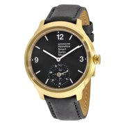 Helvetica No 1 Bold Smart Black Dial Black Leather Mens Watch MH1B2S20LB
