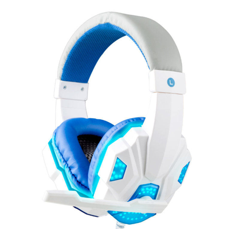 White 3.5Mm Cool Surround Stereo Gaming Headset Headband Headphone With Mic For Pc