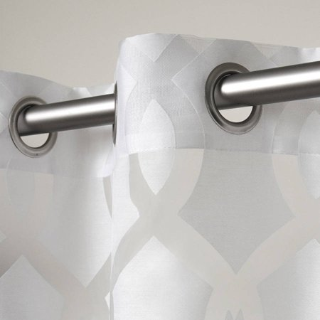 Exclusive Home Curtains 2 Pack Rio Burnout Sheer Grommet Top Curtain