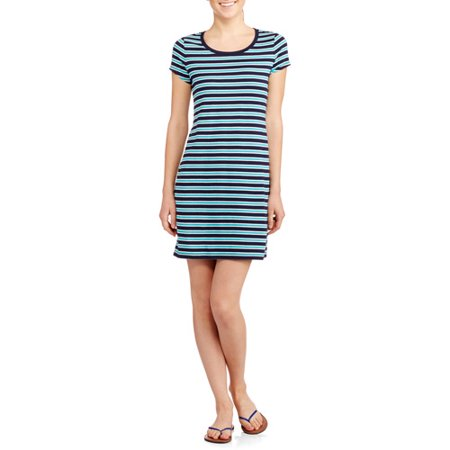 Faded glory women 39 s sporty t shirt dress for Sporty t shirt dress