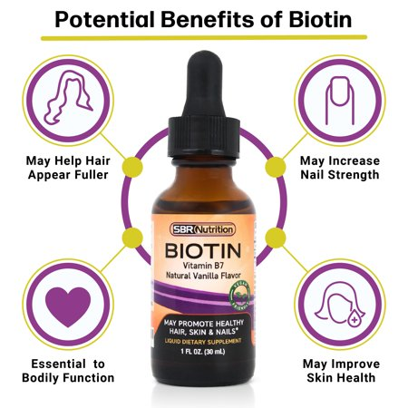 MAX ABSORPTION Biotin Liquid Drops, 5000mcg of Biotin Per Serving, 60 servings, No Artificial Preservatives, Vegan Friendly, Support Healthy Hair, Strengthen Nails and Improve Skin Health