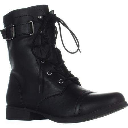 Womens Fionn Lace-Up Casual Combat Boots, Black](Clearance Combat Boots)