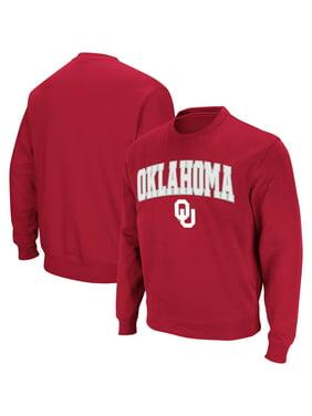 Oklahoma Sooners Colosseum Arch & Logo Crew Neck Sweatshirt - Crimson