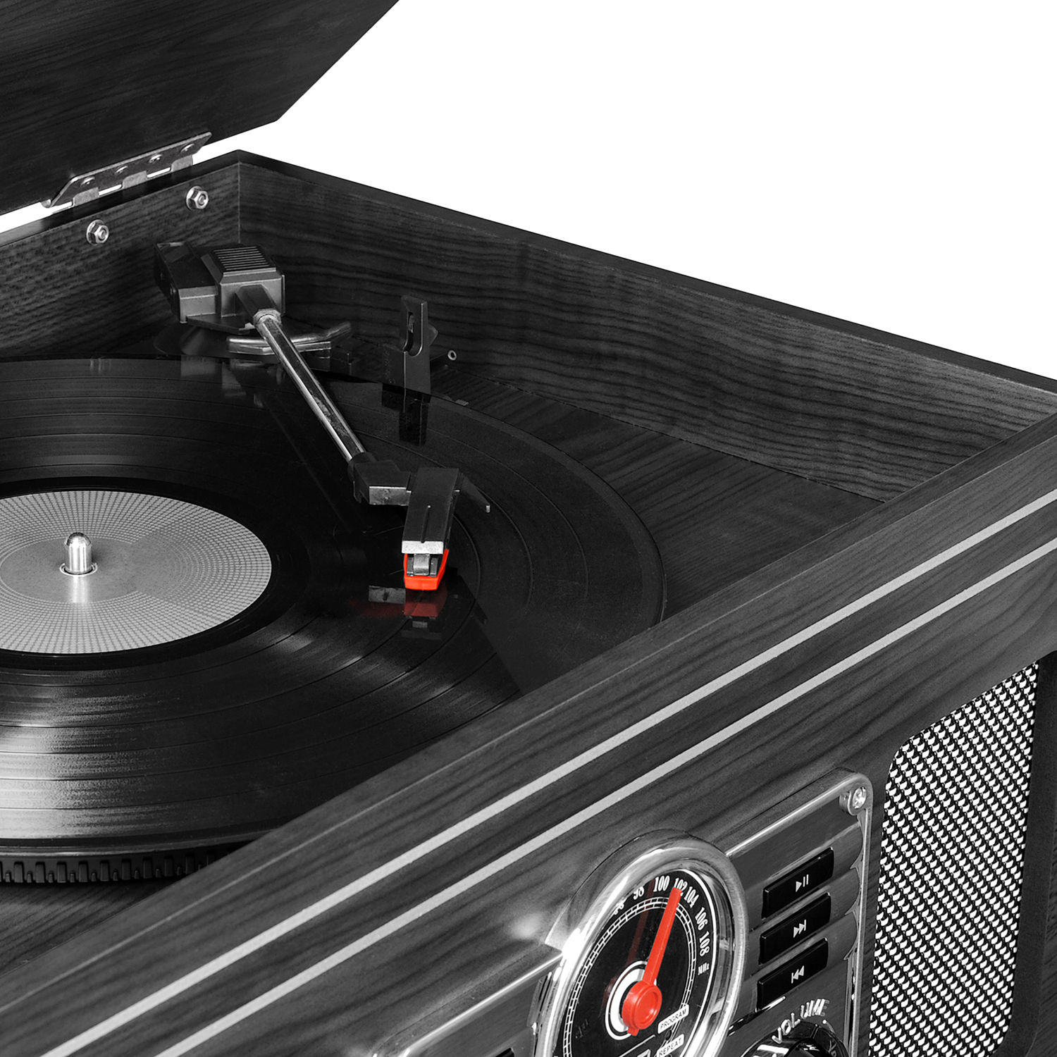 Victrola 6-in-1 Nostalgic Bluetooth Record Player with 3
