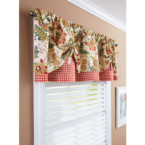 Better Homes and Gardens Gingham and Blooms Valance Walmartcom