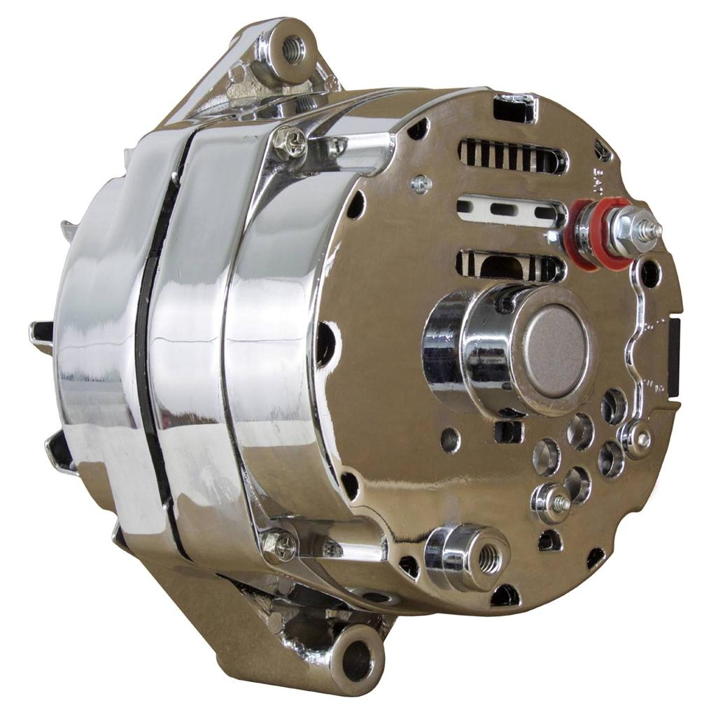 New Chrome Chevy Alternator Fits 110 Amp 3 Wire Or 1 One Setup Single 65 85 Self Exciting
