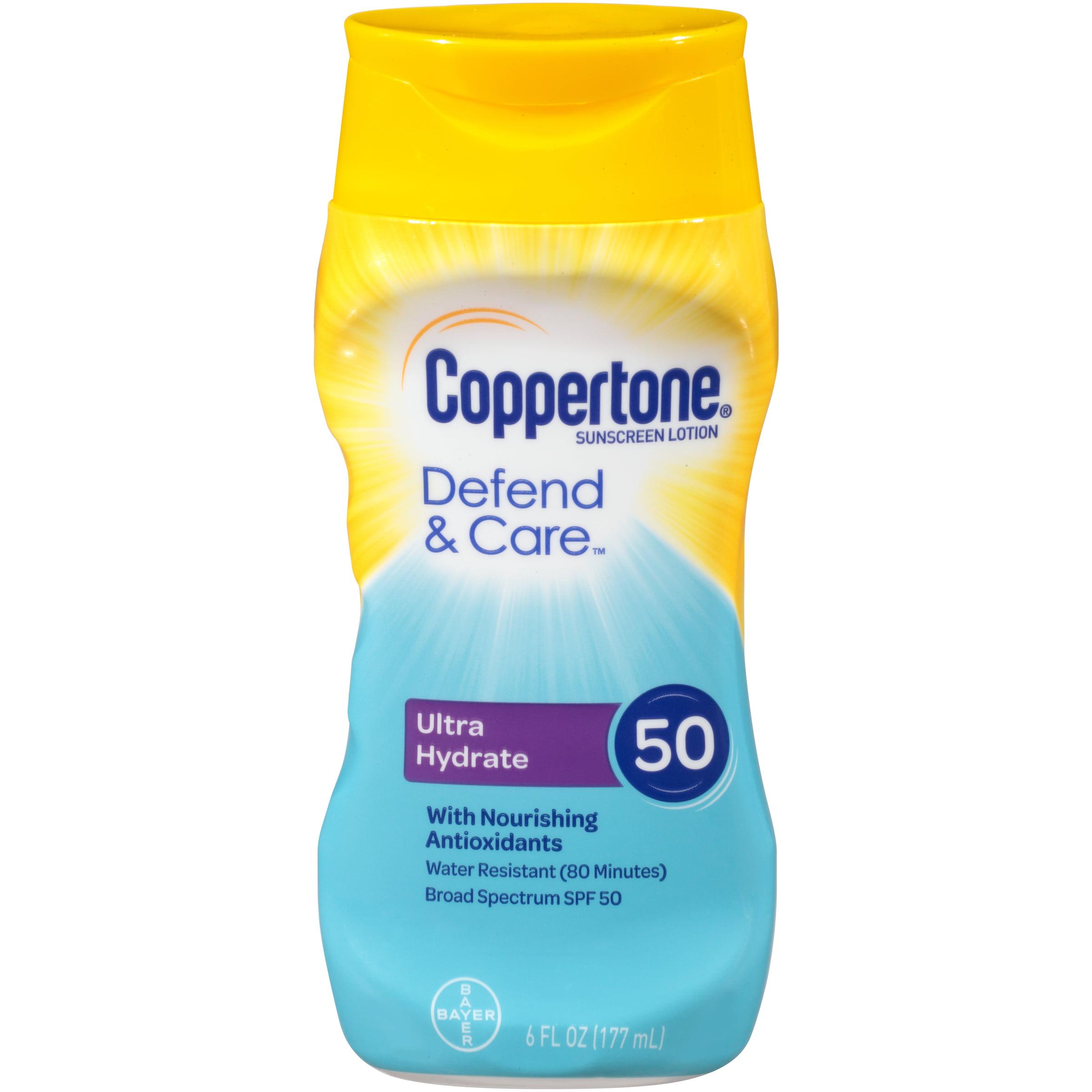 Coppertone Defend & Care Ultra Hydrate Sunscreen Lotion SPF 50 6 oz