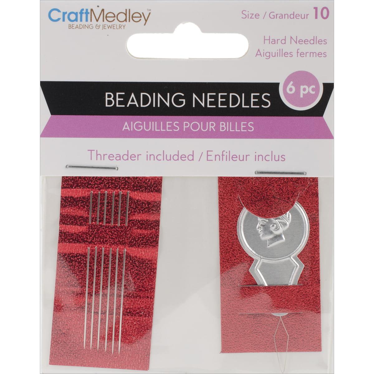 #10 Beading Needles, 6/Pkg with Threader