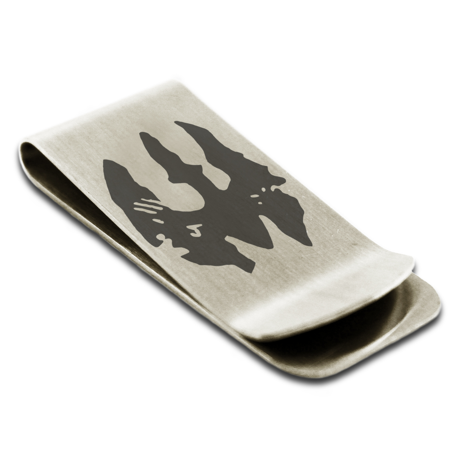 Stainless steel star wars mandalorian death watch symbol engraved stainless steel star wars mandalorian death watch symbol engraved money clip credit card holder walmart biocorpaavc Image collections