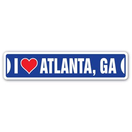 I LOVE ATLANTA, GEORGIA Street Sign ga city state us wall road décor gift
