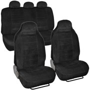 BDK Encore Dotted Cloth Car Seat Covers, 7pc, Front and Rear Full Set, High Back