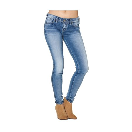 d9bfdeb40c5 Silver Jeans Denim Womens Aiko Super Skinny Dark Wash L83032SSX354