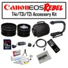 Deluxe Accessory Kit for Canon EOS Rebel T2i T3i T4i with Opteka Microfiber Deluxe Photo / Video Camera Gadget Bag, Opteka X-Grip Handle, 16GB Memory Card, Opteka Wide and Telephoto Lens Set and More! This Kit includes the following items : Opteka .43x High Definition II Full Fisheye Lens for Digital Video CamerasOpteka 2.2x High Definition II Telephoto Lens for Digital CamerasOpteka X-GRIP Professional Camera / Camcorder Action Stabilizing Handle with Accessory Shoe for Flash, Mic, or Video LightOpteka Microfiber Deluxe Photo/Video Camera Gadget Bag for Digital Cameras & CamcordersOpteka Digital Camera / Camcorder Lens Cleaning Kit, Tabletop Tripod, & LCD Screen ProtectorsOpteka 6 Foot Gold Plated Regular to Mini HDMI 1080p CableUSB 2.0 SD/MMC Card Reader for PC and MacOpteka 16 GB Class 10 SDHC Secure Digital Memory CardOpteka RC-4 Wireless Remote Control for Canon EOS Digital Rebel XT, XTi, XSi, T1i, T2i, T3i, T4i, 60D, 7D & 5D Mark II/III Digital SLR Cameras47st.Photo Deluxe Microfiber Cleaning Cloth