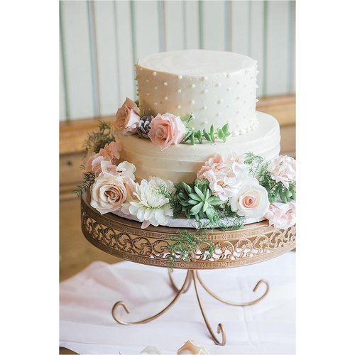 Opulent Treasures 3 Piece Loop Band Cake Plate Stand Set
