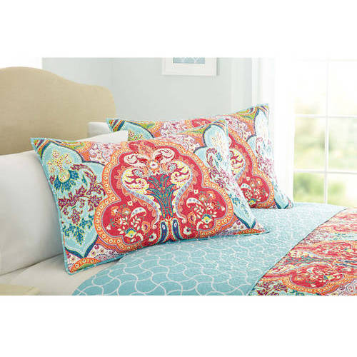 Better Homes and Gardens Jeweled Damask Bedding Quilt Collection by VCNY Home