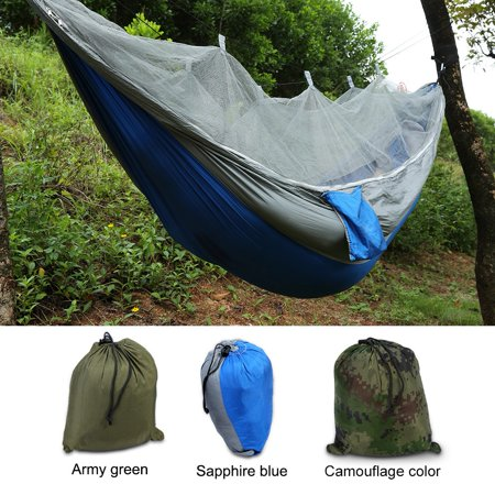 Tbest Double Person Camping Hammock With Mosquito Net for Outdoor Garden Jungle,Camping Tent Hammock ,Camping Hammocks (Cargo Net Hammock Rav4)