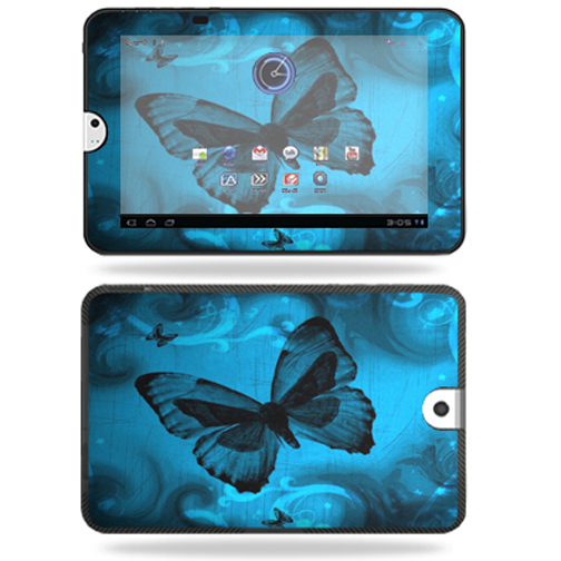 Mightyskins Protective Vinyl Skin Decal Cover for Toshiba Thrive 10.1 Android Tablet wrap sticker skins Dark Butterfly
