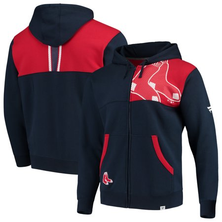 sale retailer 7cb97 bc958 Boston Red Sox Fanatics Branded Iconic Bold Full-Zip Hoodie - Navy/Red