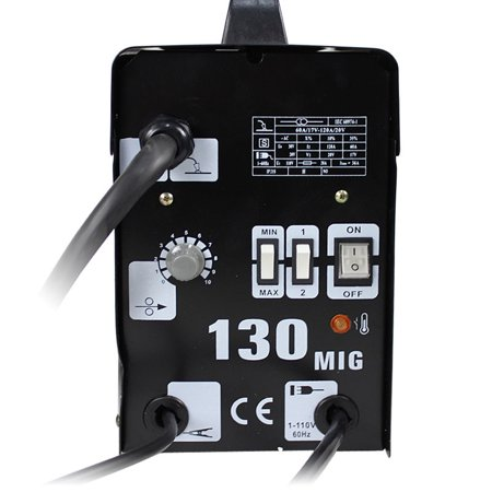 Gizmo Supply MIG 130 Welder Gas Less Flux Core Wire Automatic Feed Welding Machine W/ (Best Gas Mix For Mig Welding)