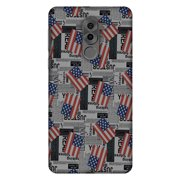 Huawei GR5 2017 Case, Premium Handcrafted Printed Designer Hard ShockProof Case Back Cover for Huawei GR5 2017 - USA Flags