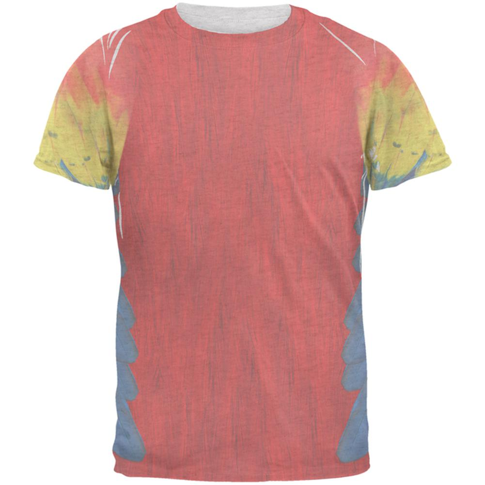 Halloween Scarlet Macaw Parrot Feathers Costume Mens T Shirt