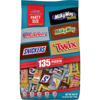 Mars MINIS Chocolate Candy Variety Bag, Easter candy, 135 pieces, MILKY WAY, SNICKERS, 3 MUSKETEERS, TWIX, MILKY WAY MIDNIGHT