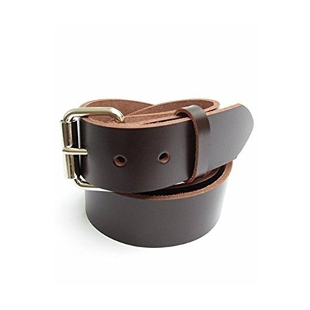 Concealed Carry Weapon Belt (CCW) - Heavy Duty Mens Dark Brown Leather Gun Belt 1 1/2
