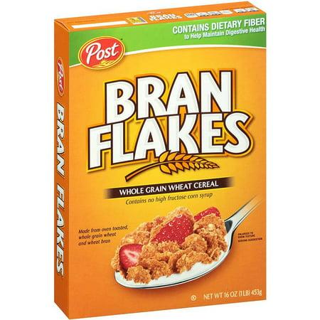 Wheat Bran Flakes - Post Bran Flakes Breakfast Cereal, 16 Oz (Pack Of 12)