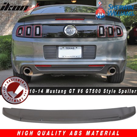 10-14 Ford Mustang GT V6 GT500 Style Trunk Spoiler - ABS