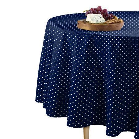 Fabric Textile Products Patriotic Blue Dots Tablecloth 60