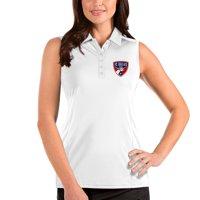 FC Dallas Antigua Women's Sleeveless Tribute Polo - White