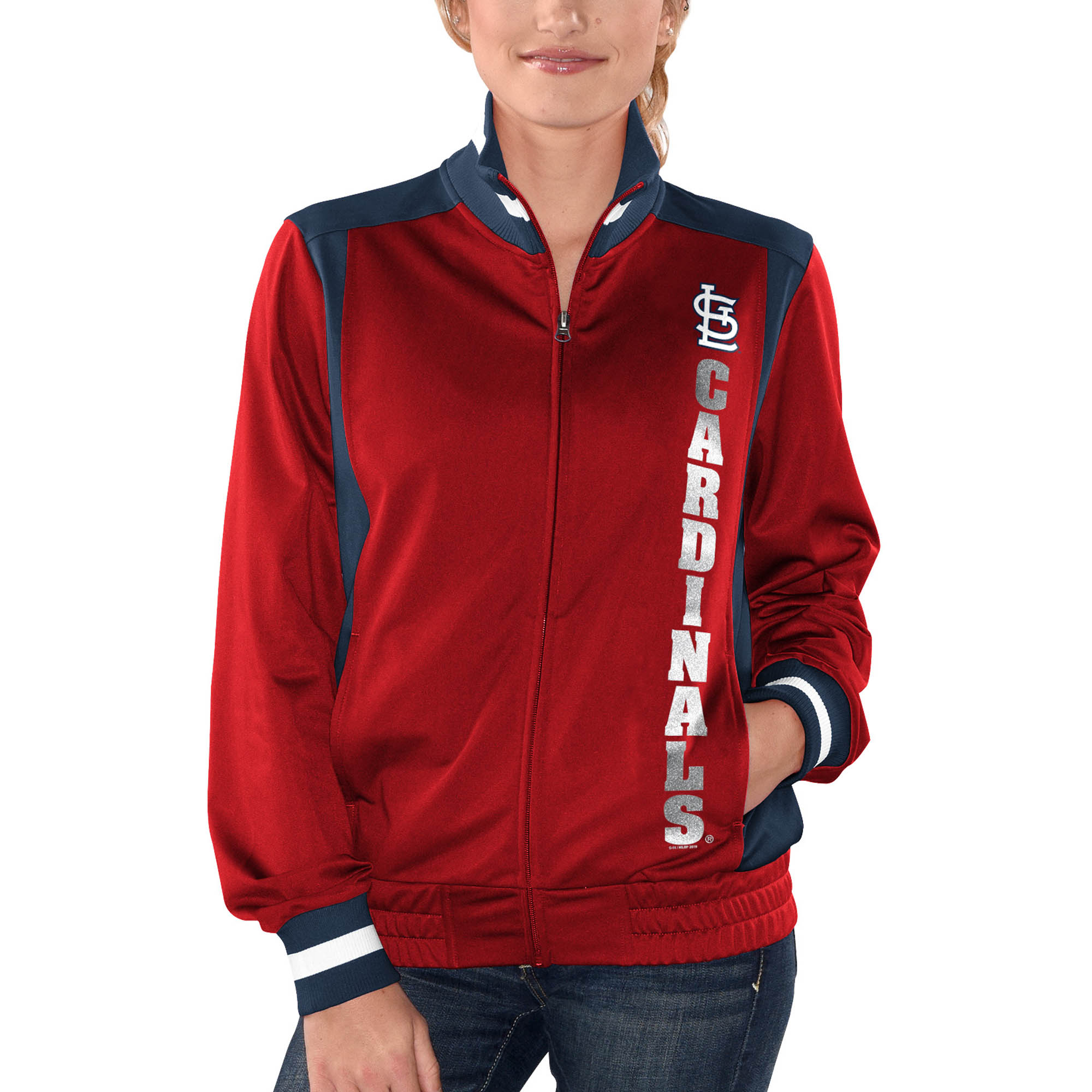 St. Louis Cardinals G-III 4Her by Carl Banks Women's On Deck Full-Zip Track Jacket - Red