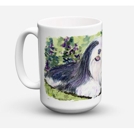 Bearded Collie Dishwasher Safe Microwavable Ceramic Coffee Mug 15 ounce SS8816CM15