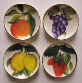 Dollhouse 4 Fruit Plates