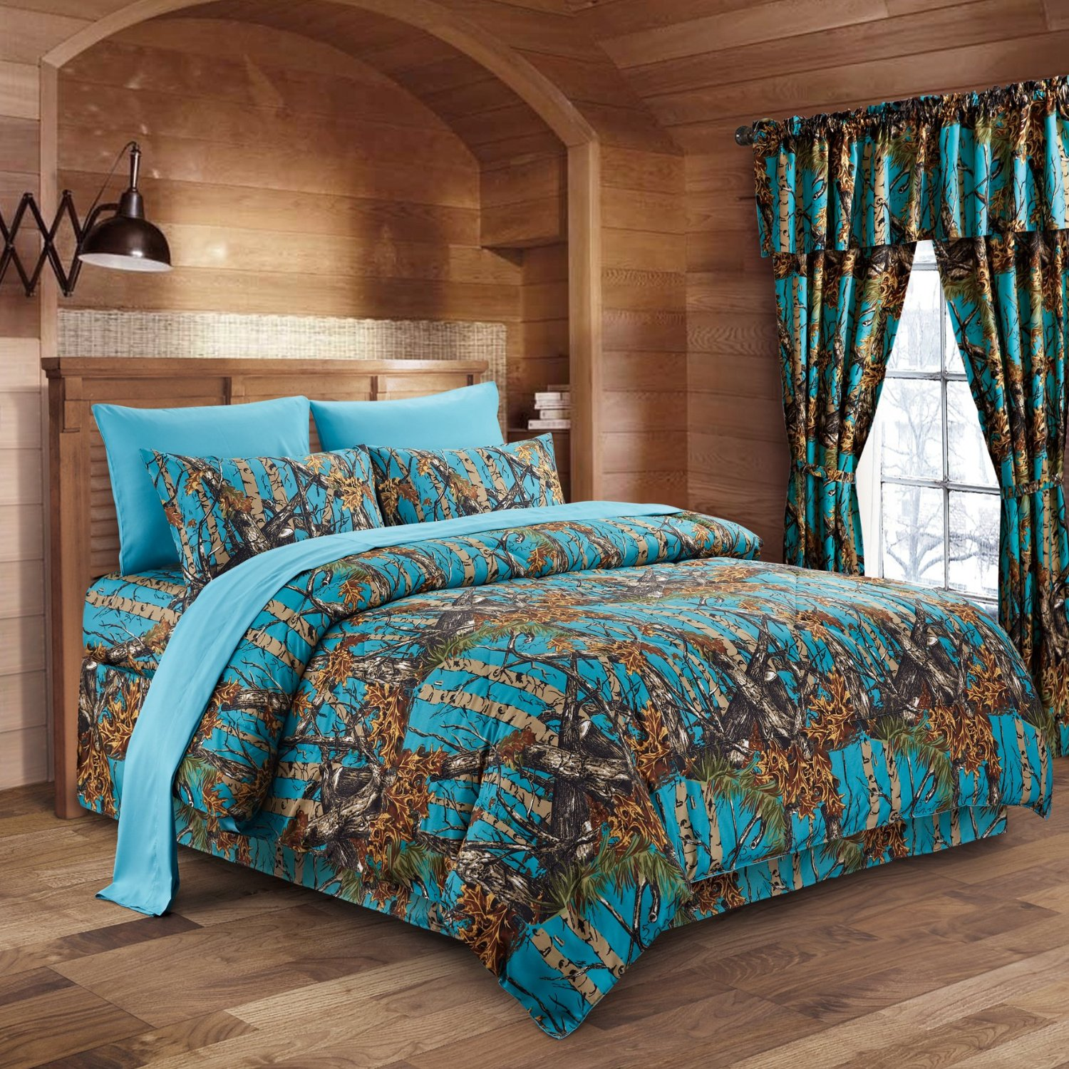 Regal Comfort 8pc Queen Size Woods Sea Breeze Camouflage Premium Comforter, Sheet, Pillowcases,and Bed Skirt Set Camo Bedding Set For Hunters Cabin or Rustic Lodge Teens Boys and Girls