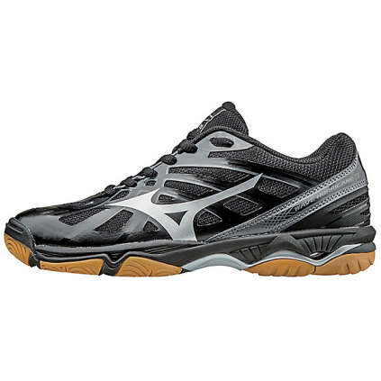 Mizuno Women's Wave Hurricane 3 Black Silver Black Silver 6.5 by Mizuno