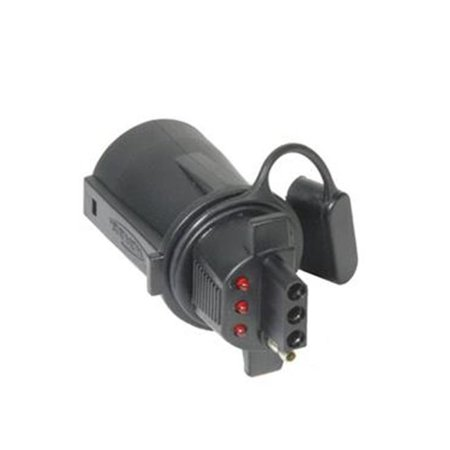 hoppy 47345 trailer wiring connector adapter with led 7. Black Bedroom Furniture Sets. Home Design Ideas