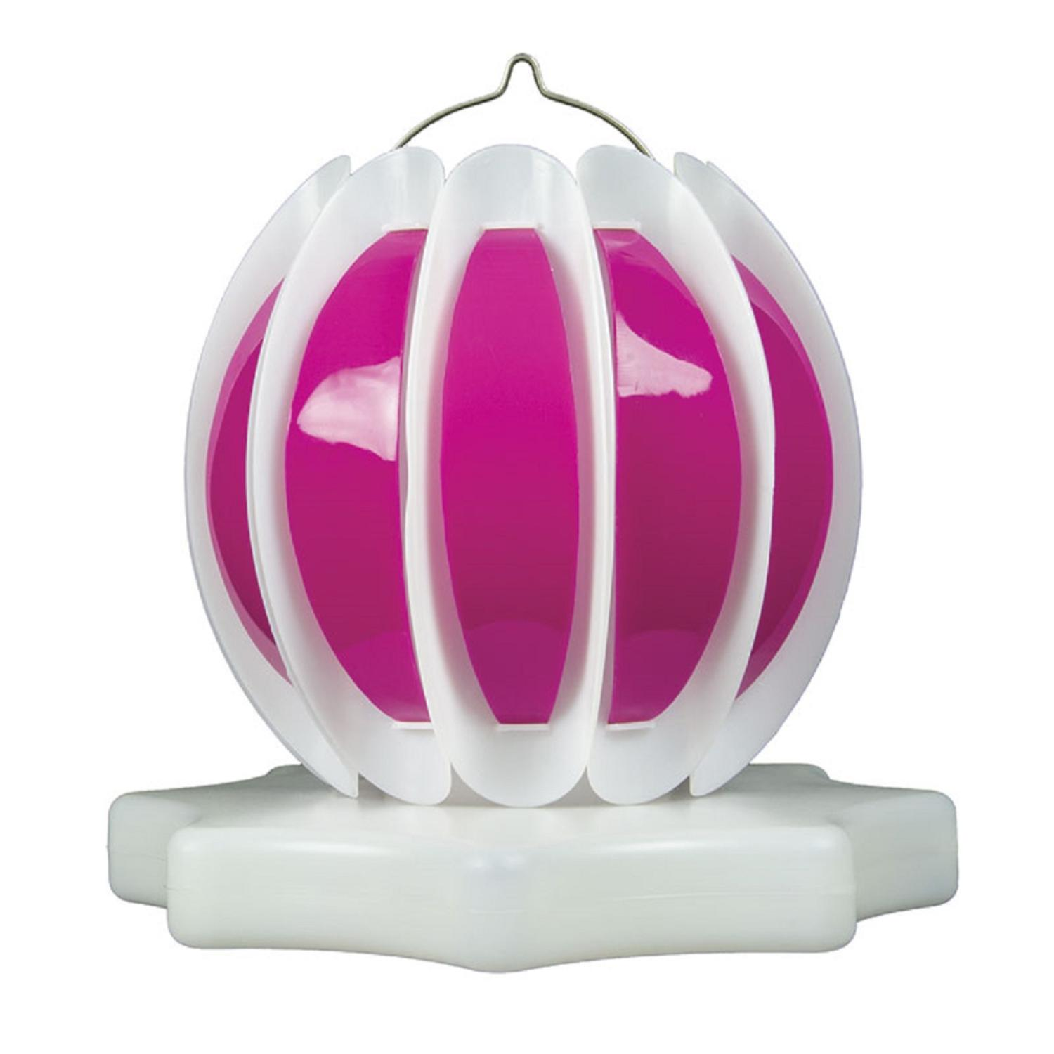 Set of 2 Pink and White Floating or Hanging Solar Powered Outdoor Decorative Lanterns