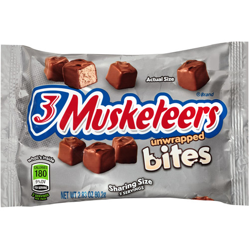 3 Musketeers Unwrapped Bites, 2.83 oz