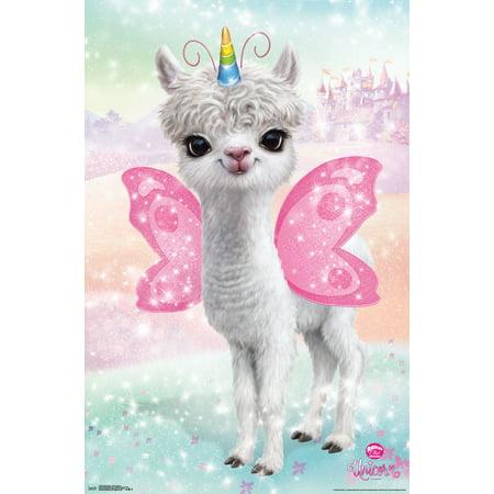 Unicorn Club (Animal Club - Llama Unicorn Poster)