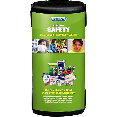 Physicians Care 21pc Emergency Student Safety First Aid Kit