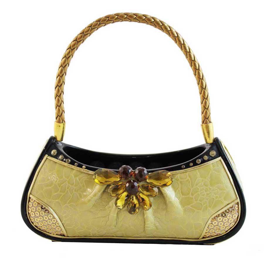 Urban Glam Handbag Ring Holder - Gold - 5.9W x 5.9H in.