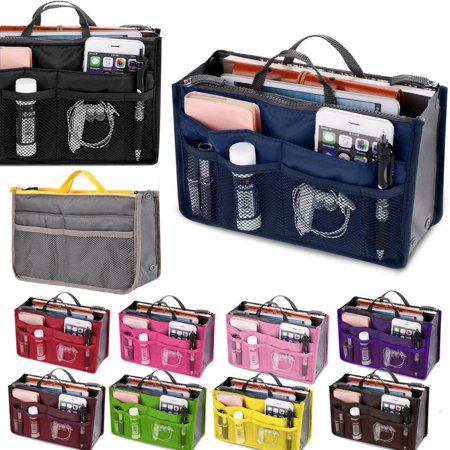 Travel Cosmetic Makeup Insert Pouch Toiletry Organizer Handbag Storage Purse