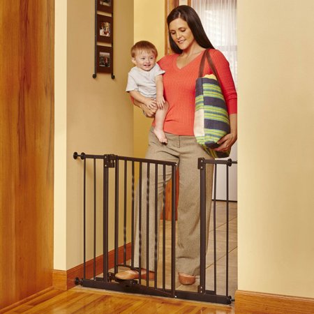 North States Bronze Step-n-Go Foot Pedal Baby Gate, 31.25