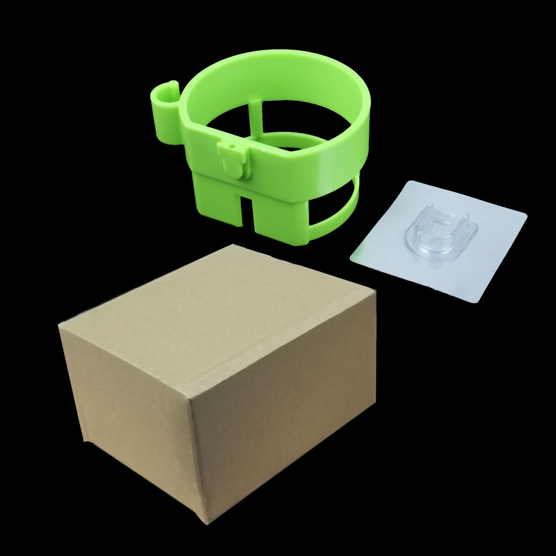 Self Adhesive Plastic Hair Dryer Holder Blower Rack Organizer Bathroom Green - image 2 de 7