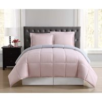 Truly Soft Everyday Blush and Silver Grey Reversible Full/Queen Comforter Set