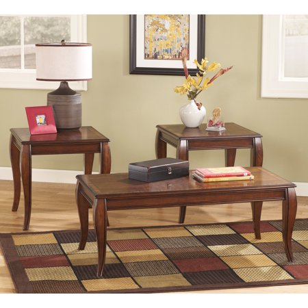 Signature Design By Ashley Mattie Brown Occasional Table   Set Of 3