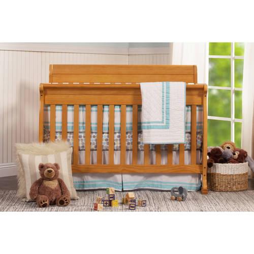 DaVinci Kalani 4-in-1 Fixed-Side Convertible Crib with Toddler Rail, Oak